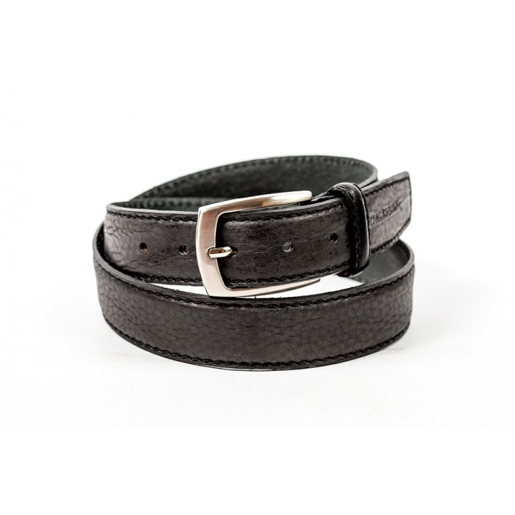 Men leather belt 1172 black Renato Balestra