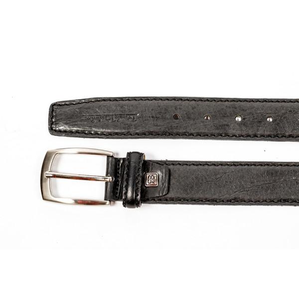 Pánsky kožený opasok 1172 čierny Renato Balestra Čierna 95/110 cm