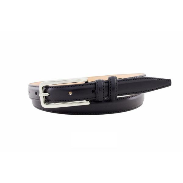 Dámsky kožený opasok 516 čierny Made in Italy Čierna 105/120 cm