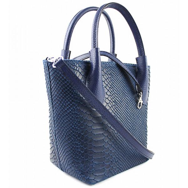 Dámska kožená kabelka 437 fuchsia Made in Italy