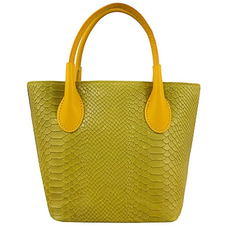 Dámska kožená kabelka 437 okrová Made in Italy