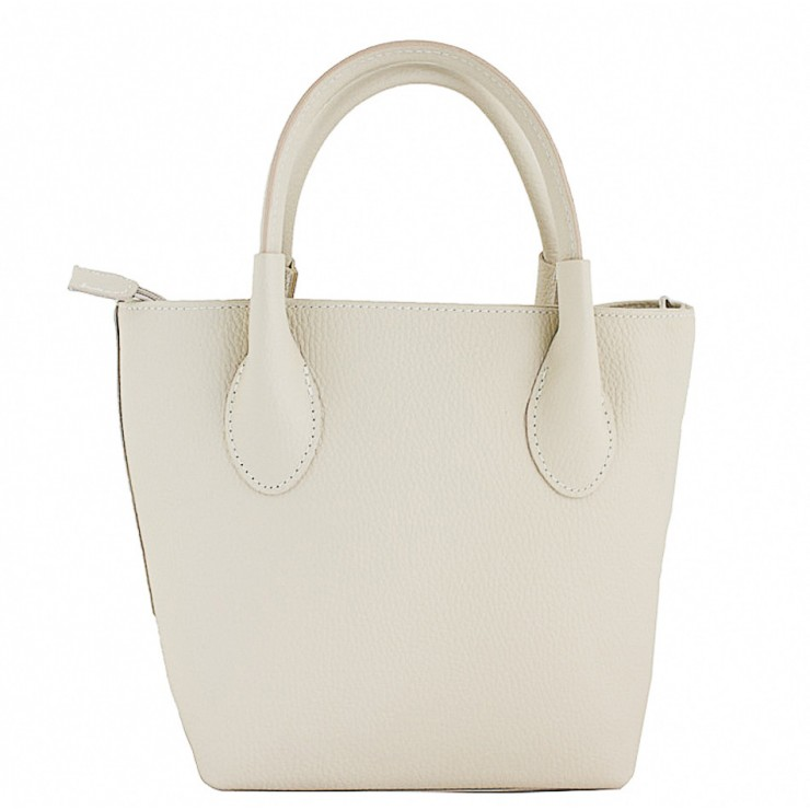 Borsa a mano in vera pelle 93 beige Made in Italy