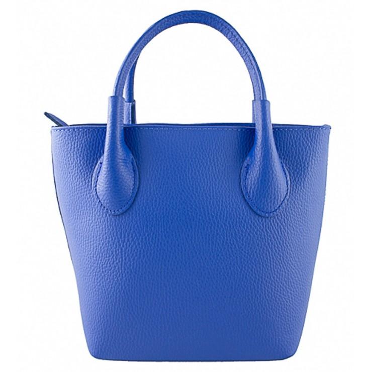 Dámska kožená kabelka 93 azurovo modrá Made in Italy