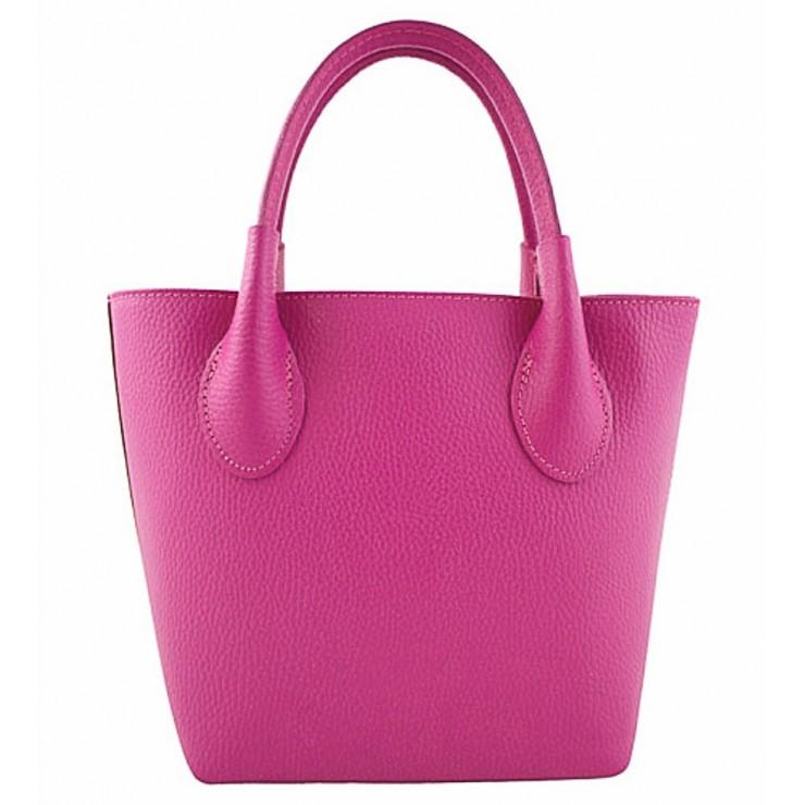Genuine Leather Handbag 93 fuchsia Made in Italy