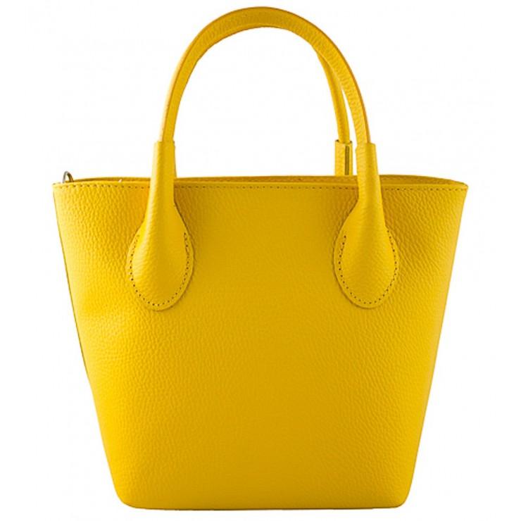 Dámska kožená kabelka 93 žltá Made in Italy