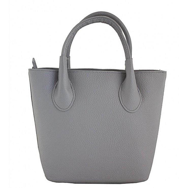 0ddeedaed85f6 Dámska kožená kabelka 93 šedá Made in Italy