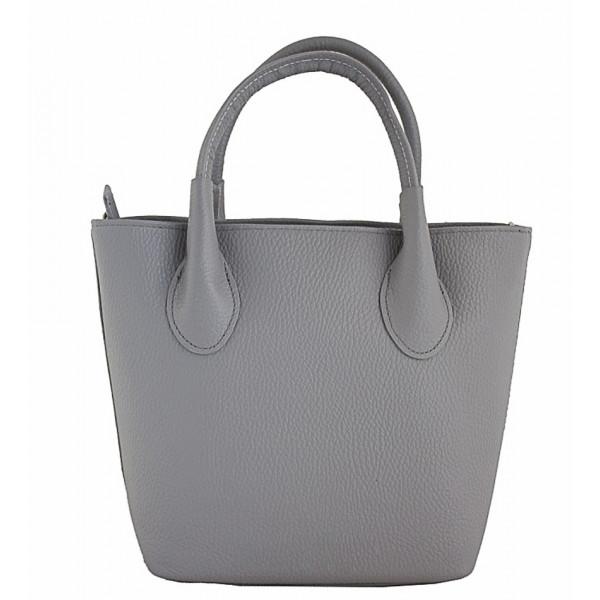 a3a1b3964da56 Dámska kožená kabelka 93 šedá Made in Italy - MONDO ITALIA s.r.o.