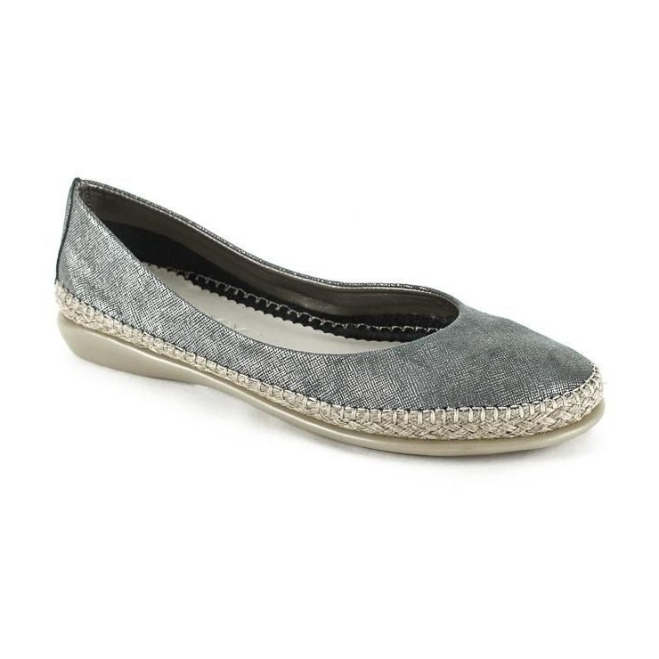 Ladies 1118 pewter moccasins The Flexx