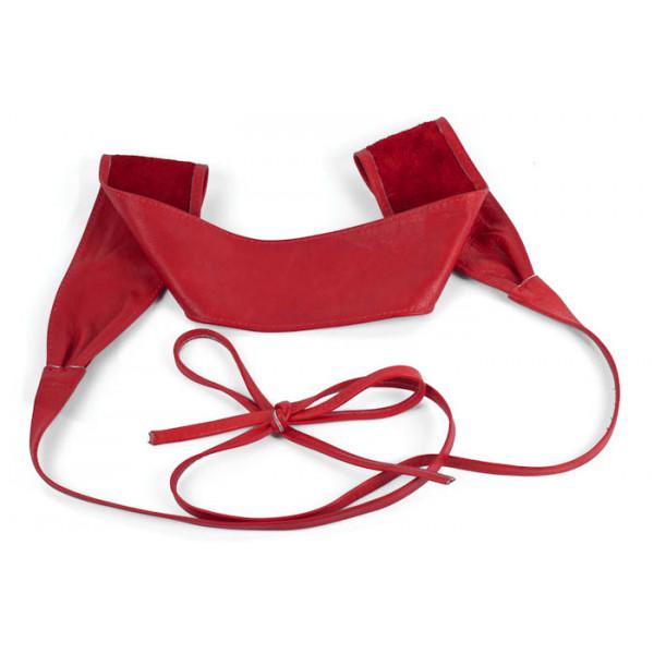 nuovo stile di sito autorizzato una grande varietà di modelli Cintura Fusciacca donna in vera pelle 839 rosso - MONDO ...