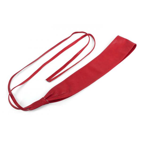 Dámsky kožený opasok na viazanie 839 červený Univerzálna Červená