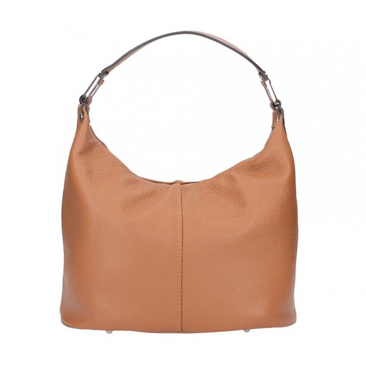 Leather Shoulder Bag 922 cognac Made in Italy