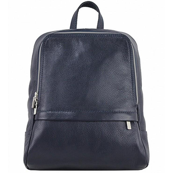 Kožený batoh 129 modrý Made in Italy