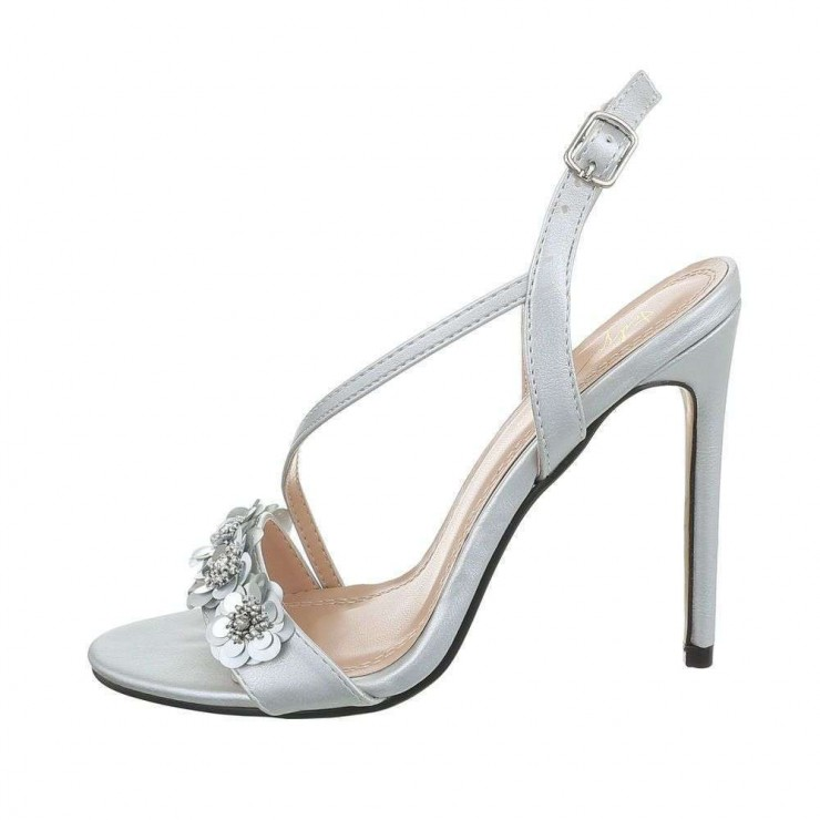 Woman sandals silver Sergio Todzi