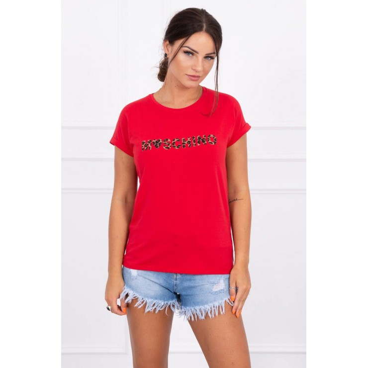 Women T-shirt red Moschino