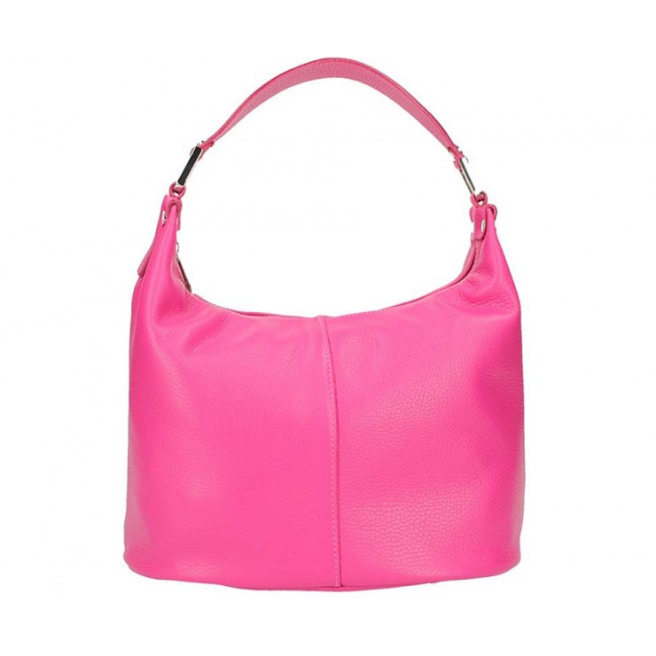 Leather Shoulder Bag 922 fuxia Made in Italy