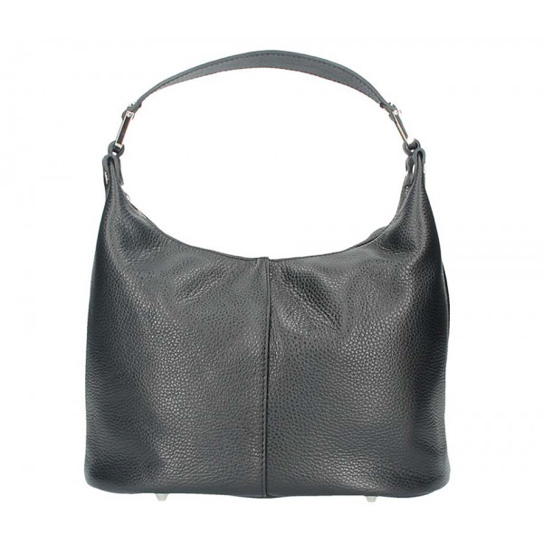 Leather Shoulder Bag 922 black Made in Italy