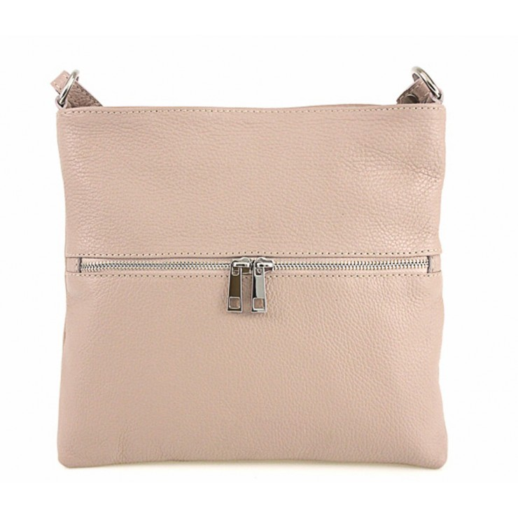 Genuine Leather Handbag 147 pink Made in Italy