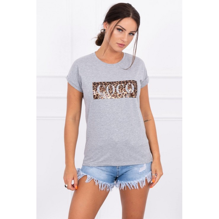 Women T-shirt COCO gray