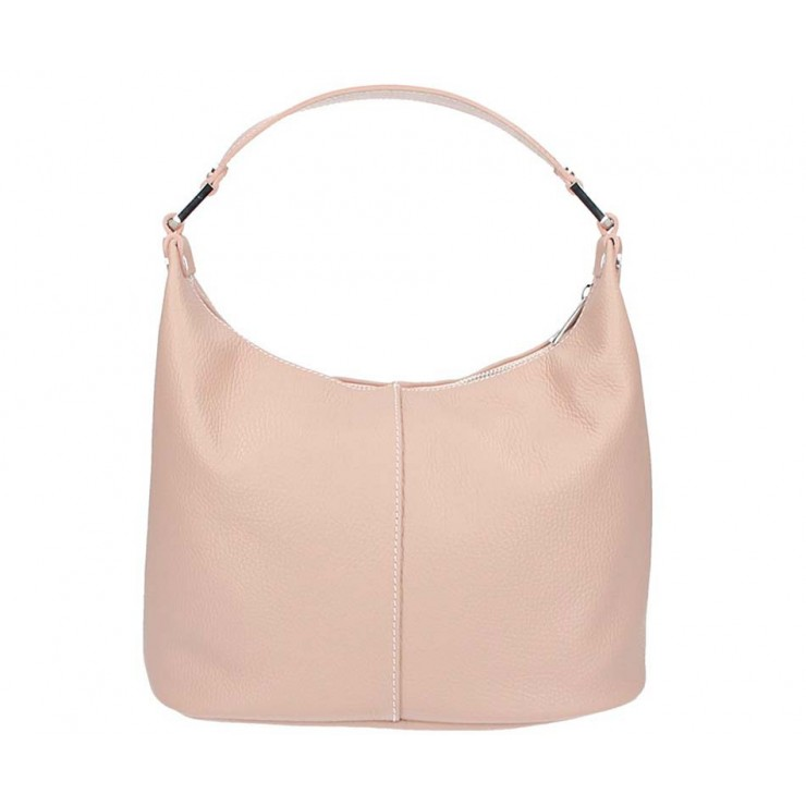 Leather Shoulder Bag 922 pink Made in Italy