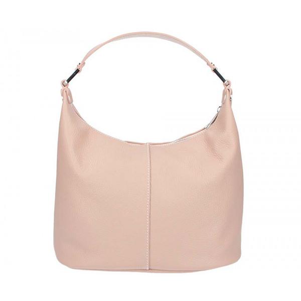 Ružová kožená kabelka na rameno 922 Made in Italy