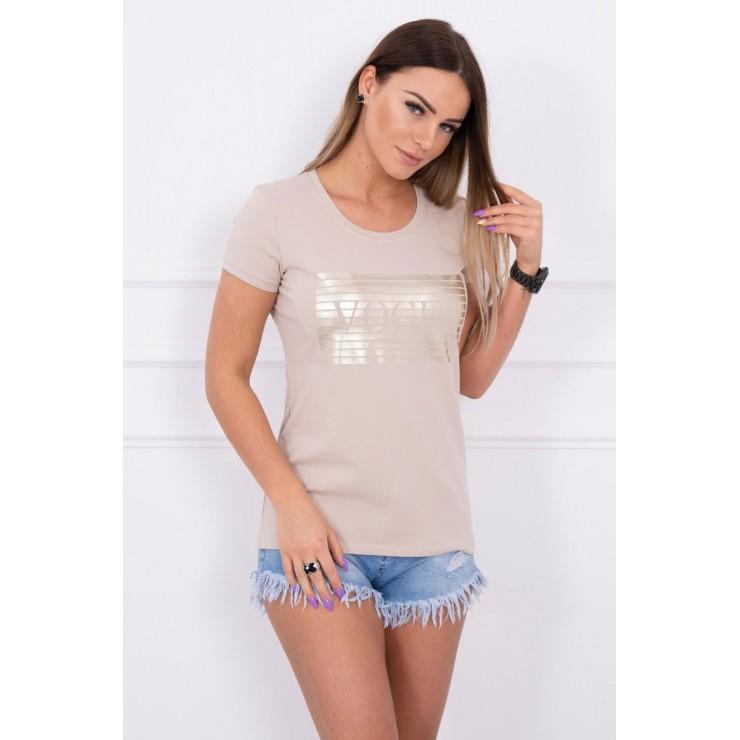Frauen-T-Shirt SILVER VOGUE beige