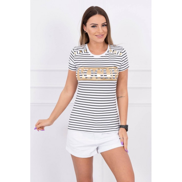 Women T-shirt VOGUE white