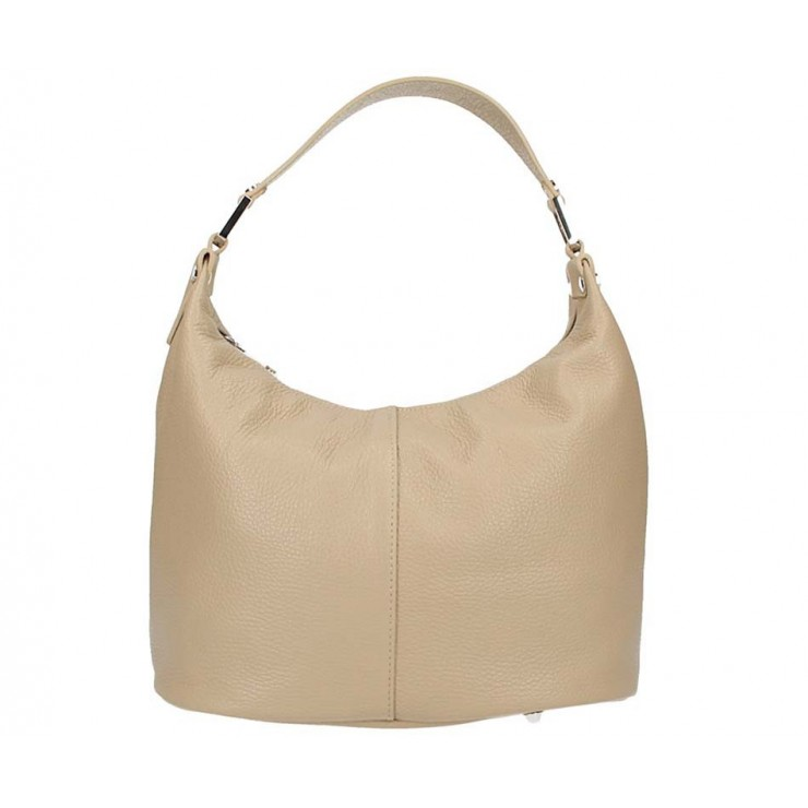 Leather Shoulder Bag 922 taupe Made in Italy