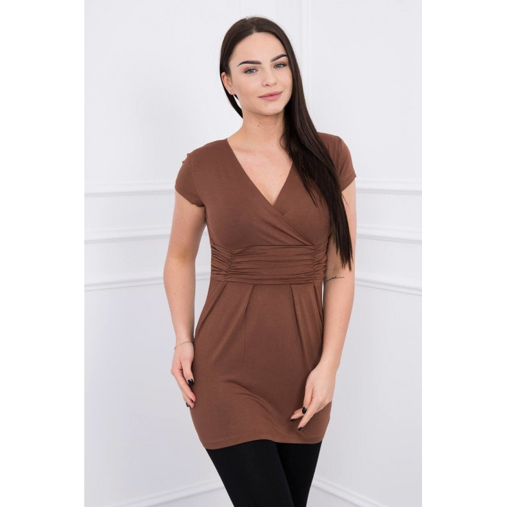 Women T-shirt MI8322 brown