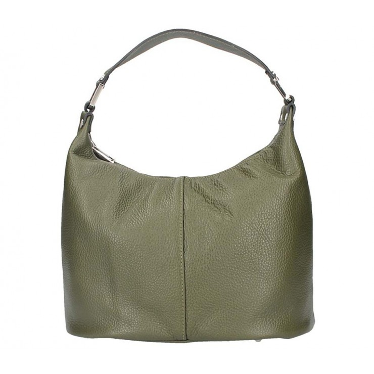 Leather Shoulder Bag 922 dark green Made in Italy