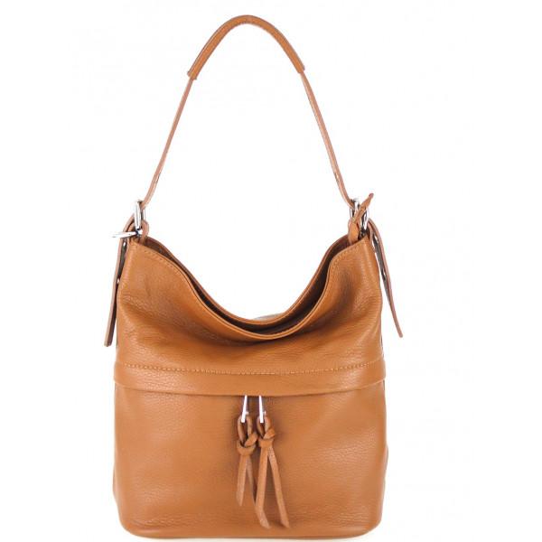 Leather Shoulder Bag 631 cognac
