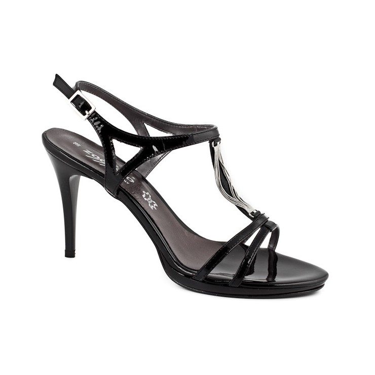 Čierne dámske sandále 880