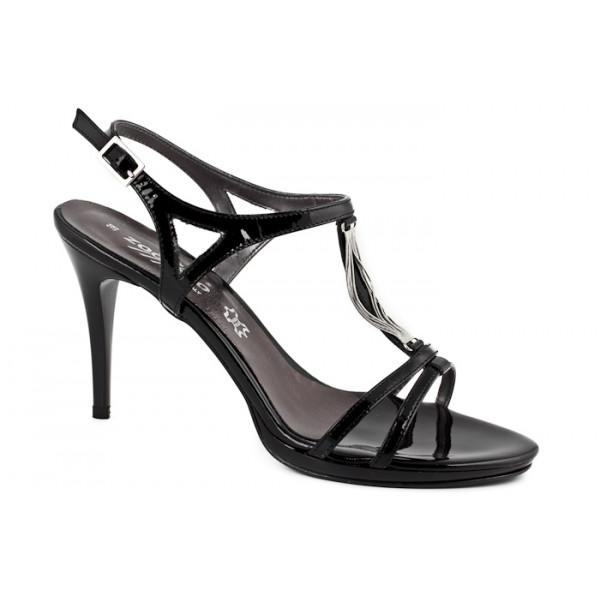 Černé společenské sandály