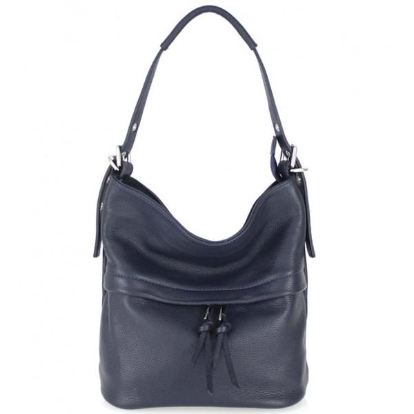 Leather Shoulder Bag 631 dark blue