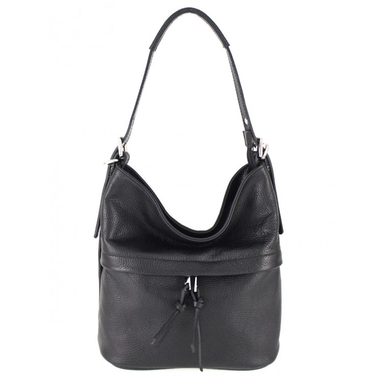 Leather Shoulder Bag 631 black