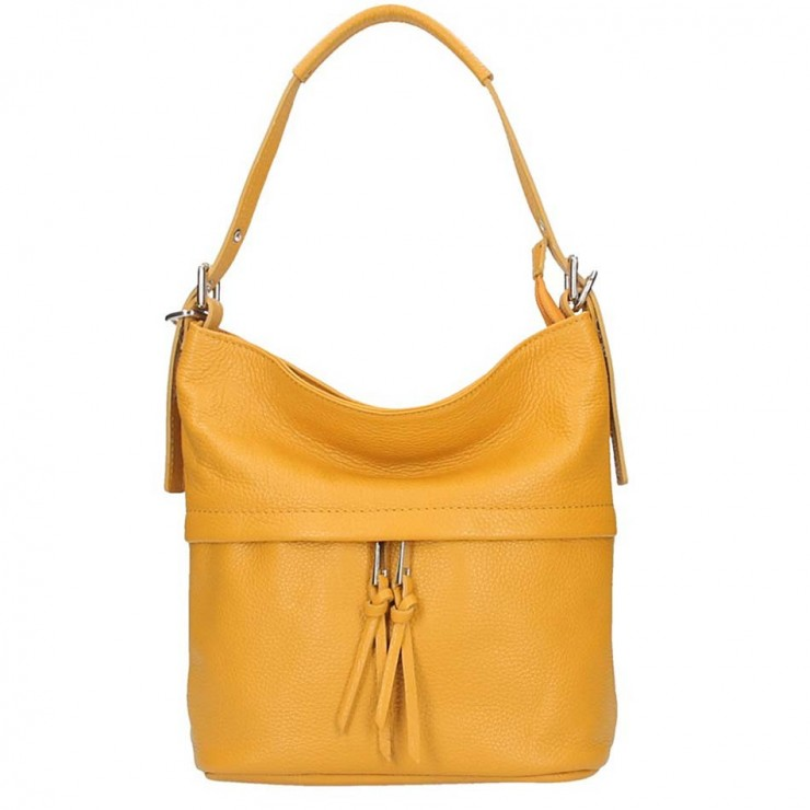 Leather Shoulder Bag 631 mustard