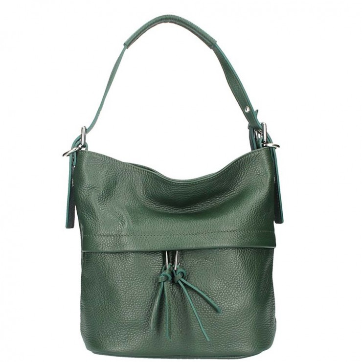Leather Shoulder Bag 631 dark green