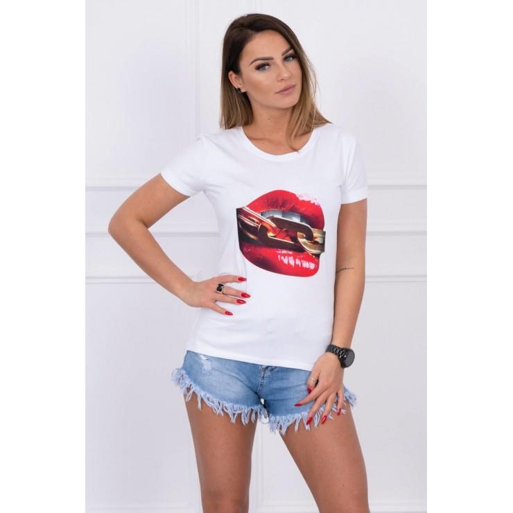 Women T-shirt MI5428 white