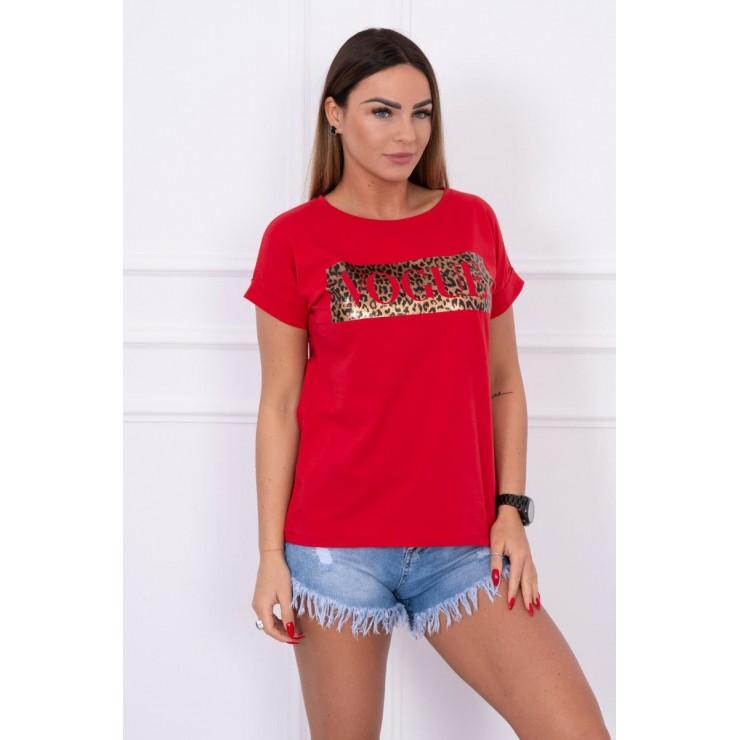 Women's T-shirt VOGUE red