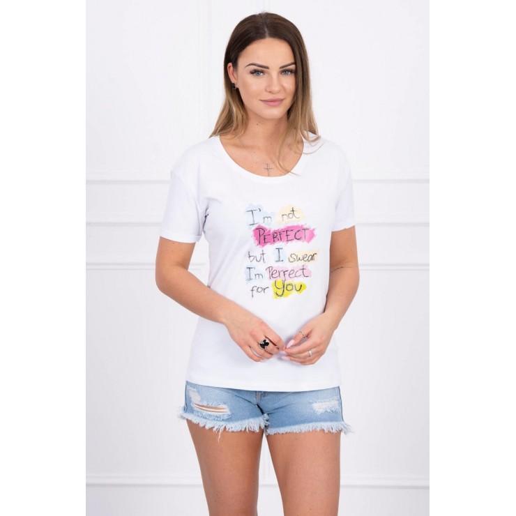 Women T-shirt PERFECT white